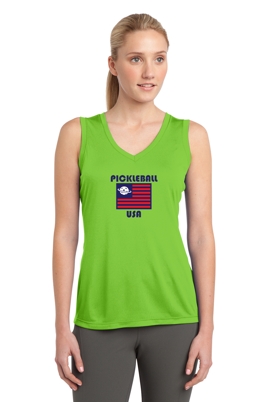 Ladies Sleeveless Performance Tee 'PB USA'