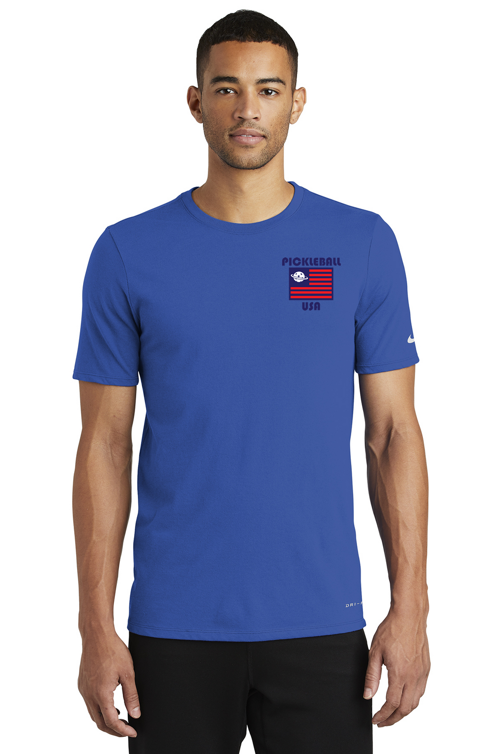 Men's Nike Dri-FIT Cotton/Poly SS Tee 'Pickleball USA'