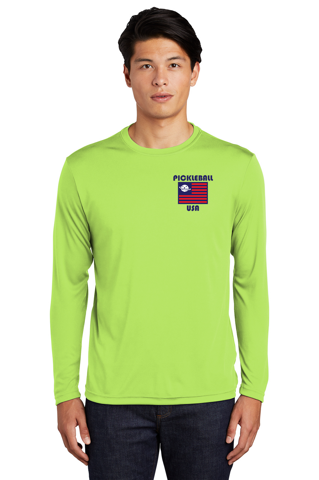 Men's Long Sleeve Performance Shirt 'PB USA'- Regular & UPF 50*