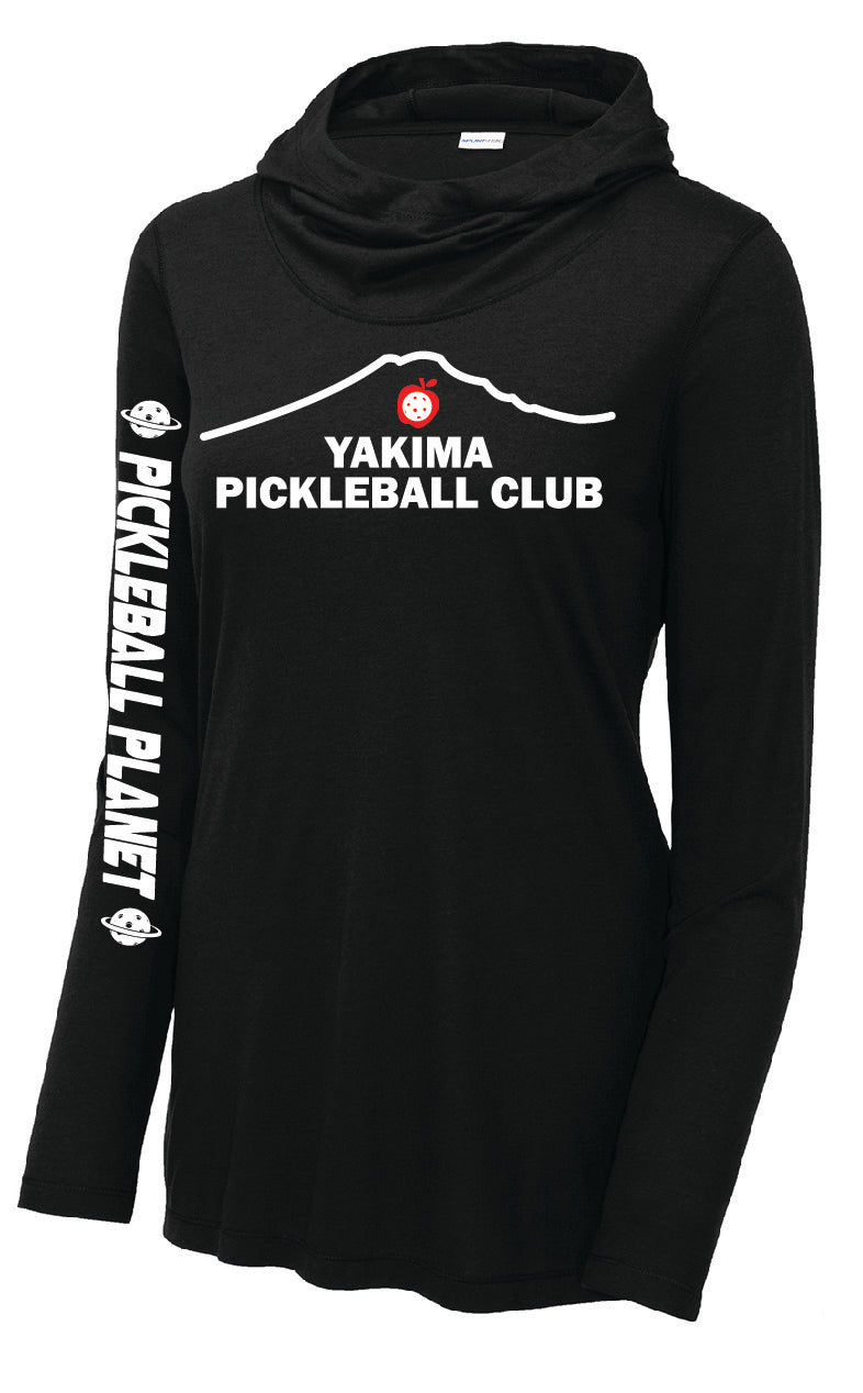 Ladies Long Sleeve Tri-Blend Wicking Hoodie 'Yakima PC'