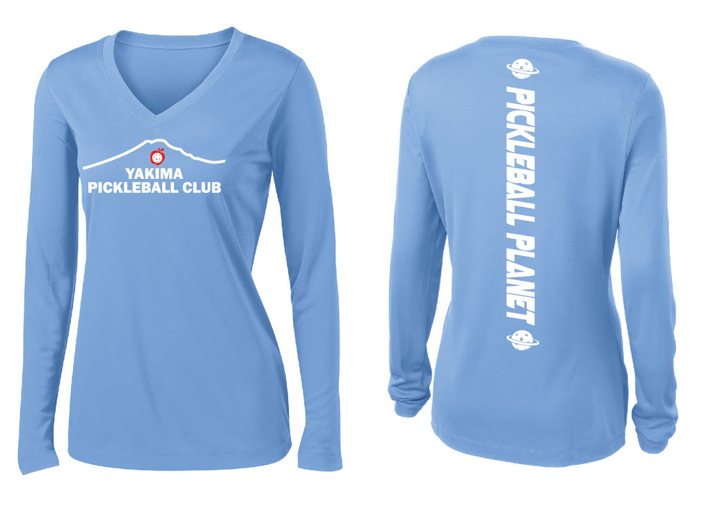 Ladies Long Sleeve V- Neck Performance Shirt 'Yakima PC'