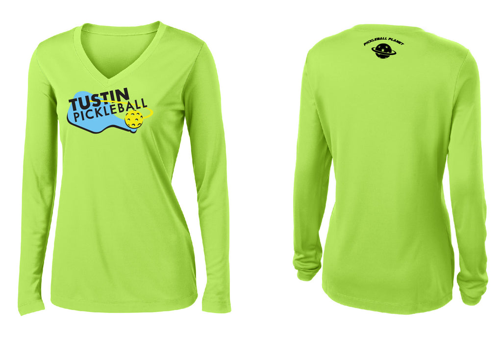 Women's Long Sleeve Performance 'Tustin PBC' Shirt- Lime