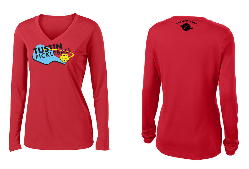 Women's Long Sleeve Performance 'Tustin PBC' Shirt- Red