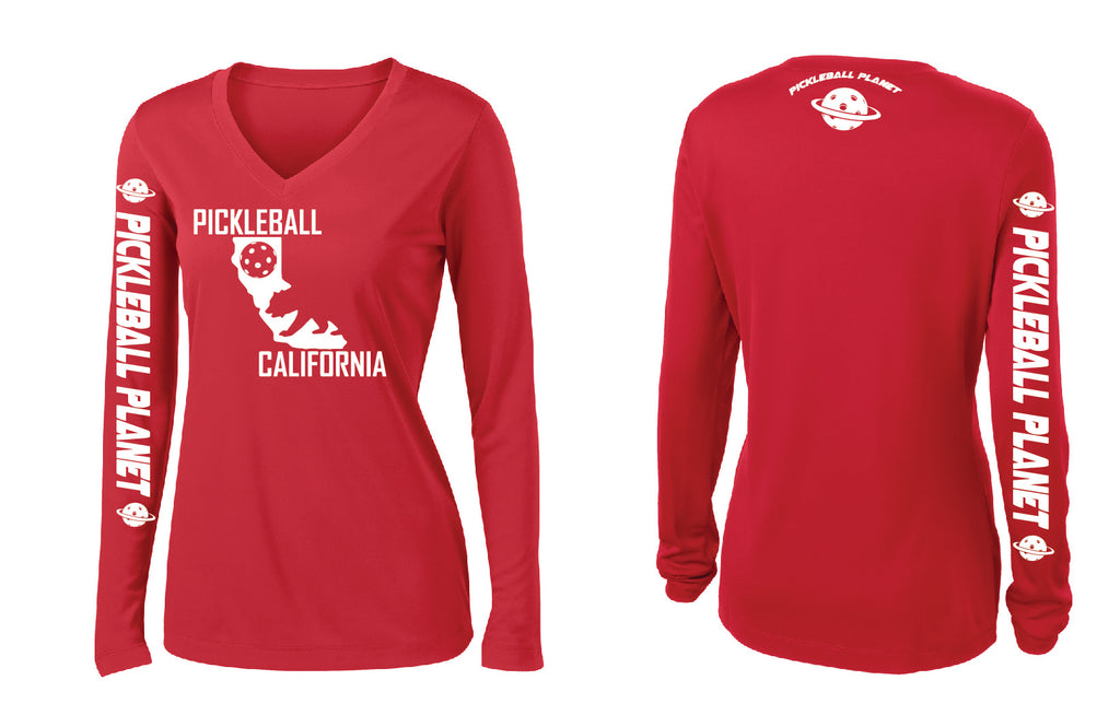 Long Sleeve Red California Bear