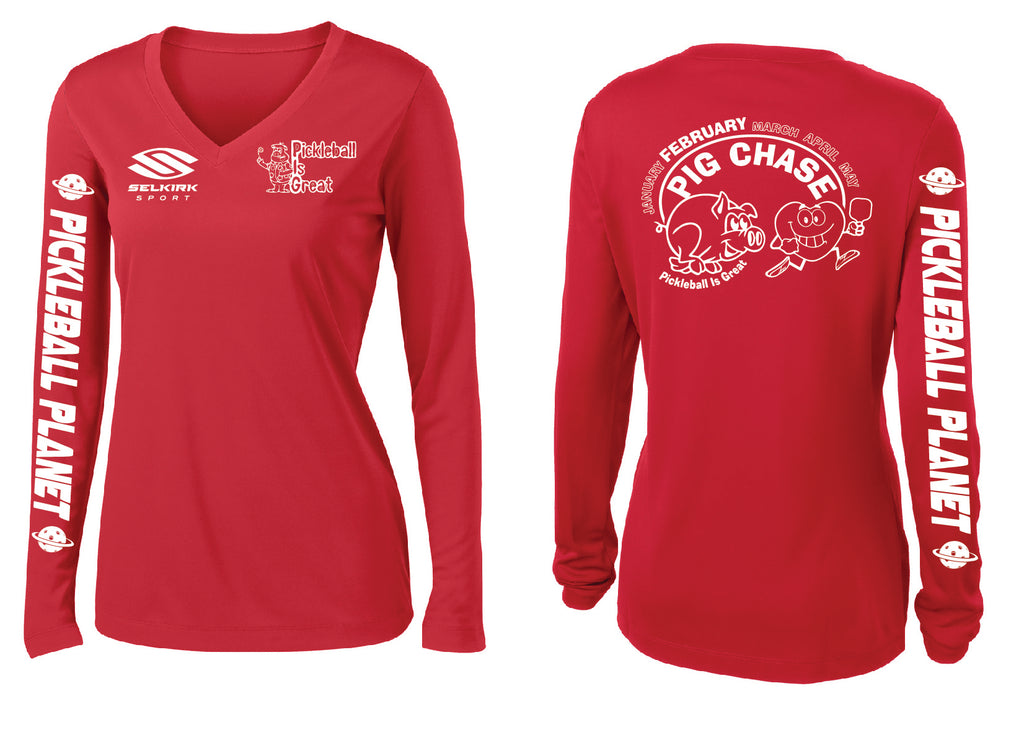 Women's Long Sleeve Performance 'February 2020 PIG' Shirt