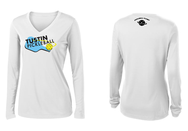 Women's Long Sleeve Performance 'Tustin PBC' Shirt- White