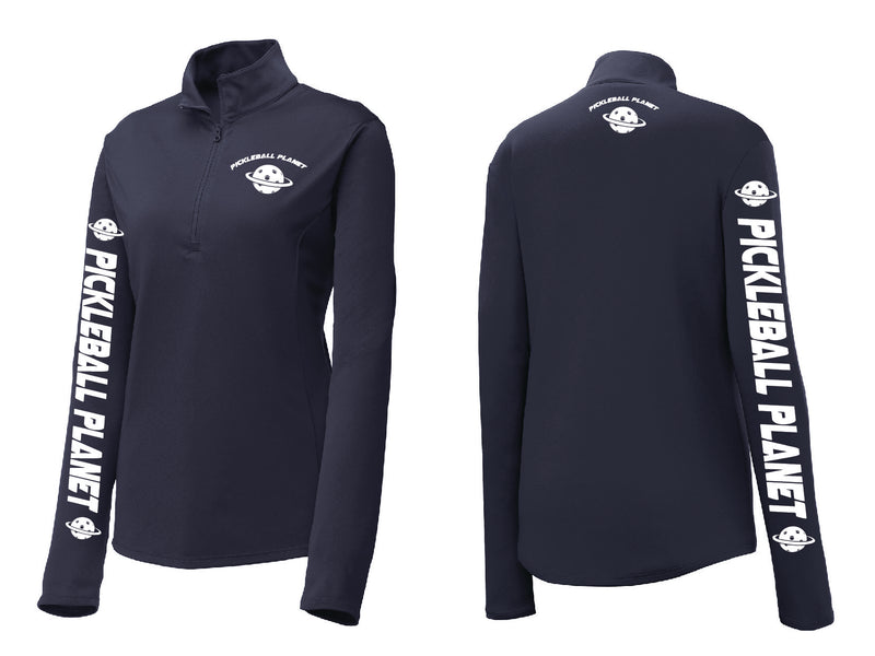 Ladies Performance 1/4-Zip Pullover 'Pickleball Planet'