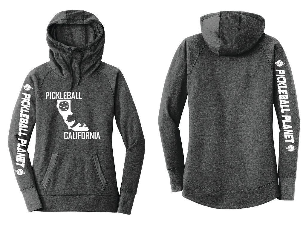 Tri Blend Pullover Black California Bear Hoodie