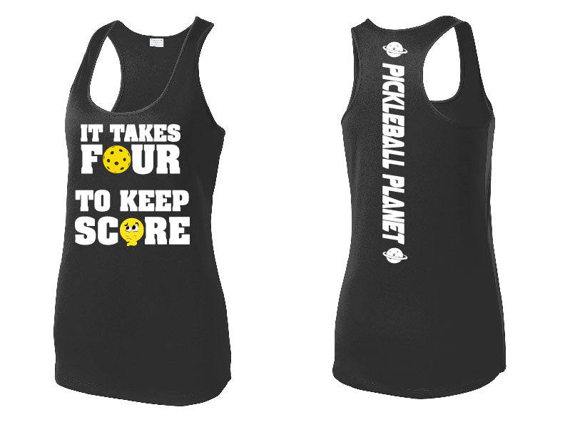 Ladies Racerback Tank '4 To Score'