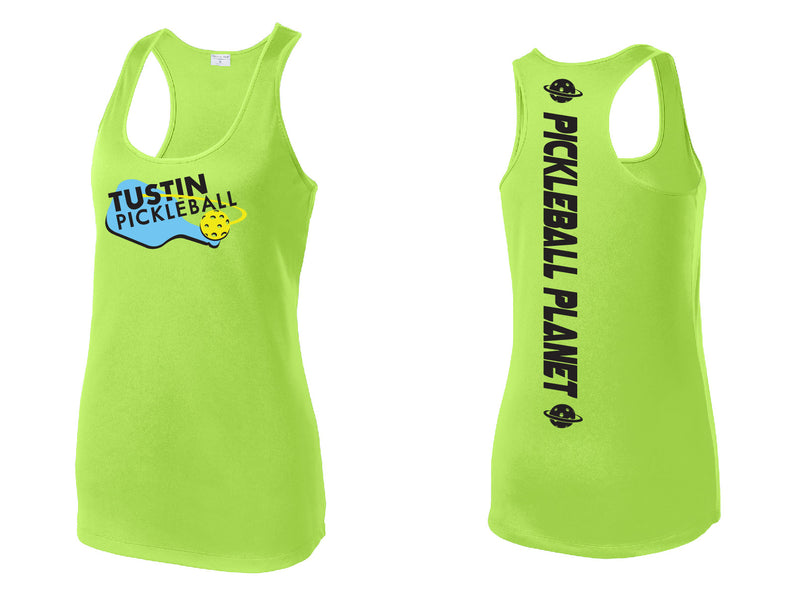 Ladies Performance Racerback Tank 'Tustin PBC' Lime
