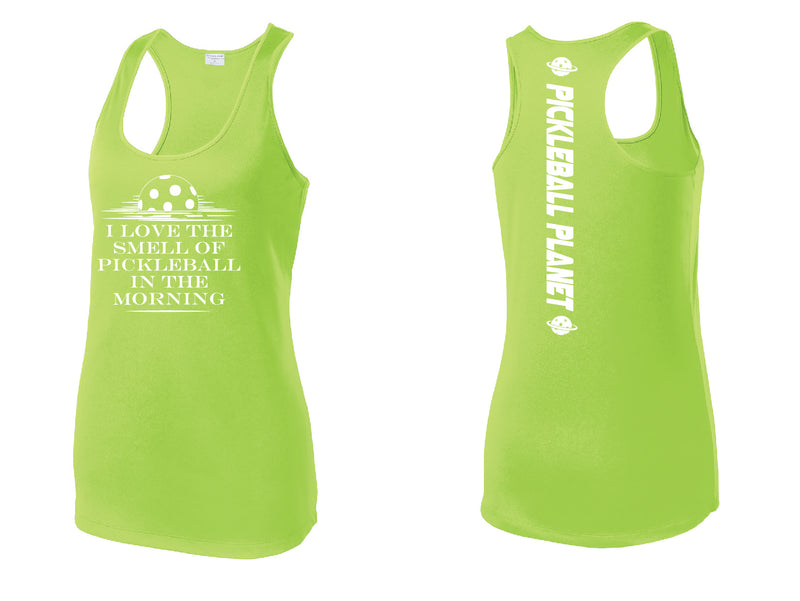 Ladies Lime Racerback Tank I Love the Smell