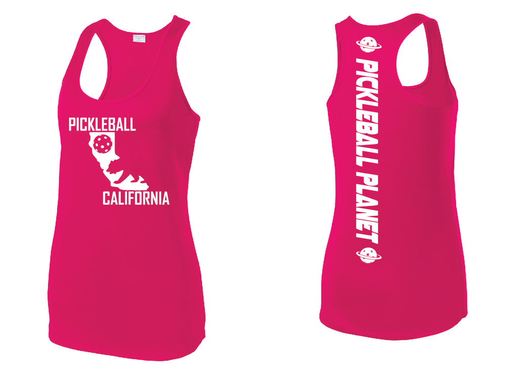 Racerback Pink Raspberry California Bear