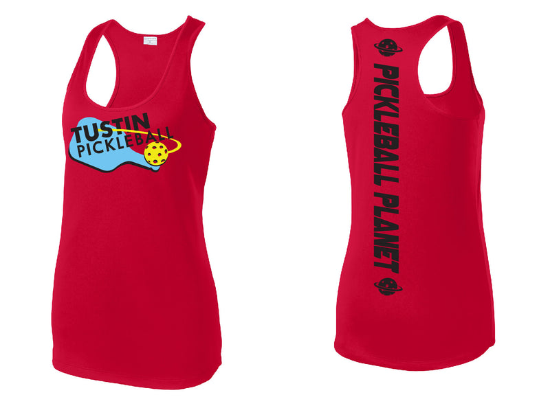 Ladies Performance Racerback Tank 'Tustin PBC' Red