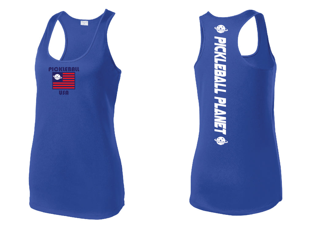 Ladies Racerback Royal Blue PB USA