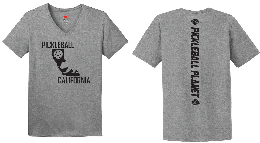 Ladies Gray Cotton Short Sleeve California Bear