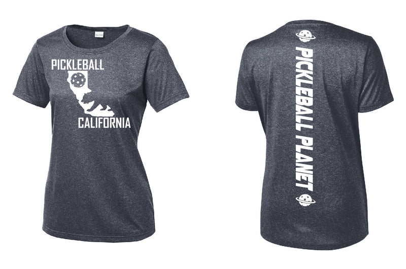 Short Sleeve Heather Navy Blue California Bear