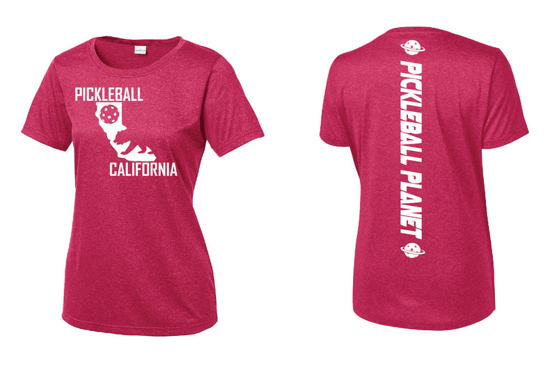 Short Sleeve Heather Pink Raspberry California Bear