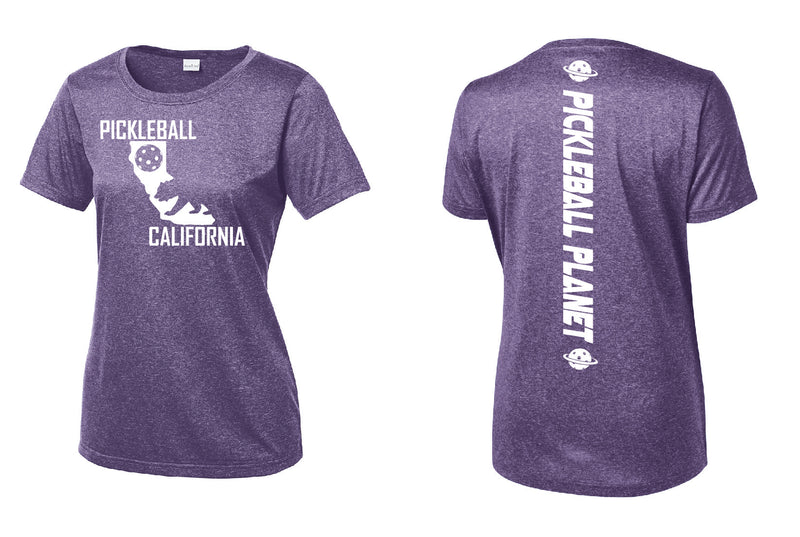 Short Sleeve Heather Purple California Bear