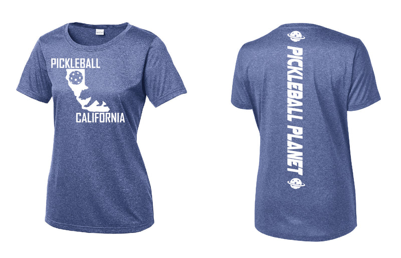 Short Sleeve Heather Royal Blue California Bear