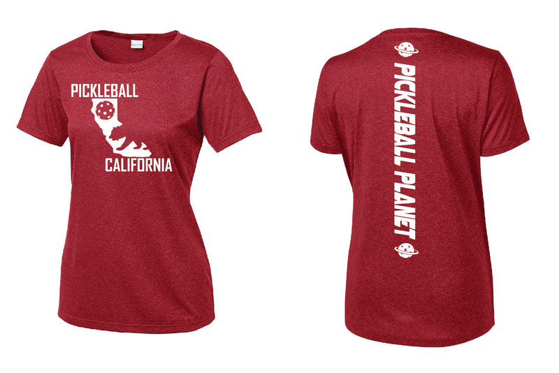 Short Sleeve Heather Red California Bear