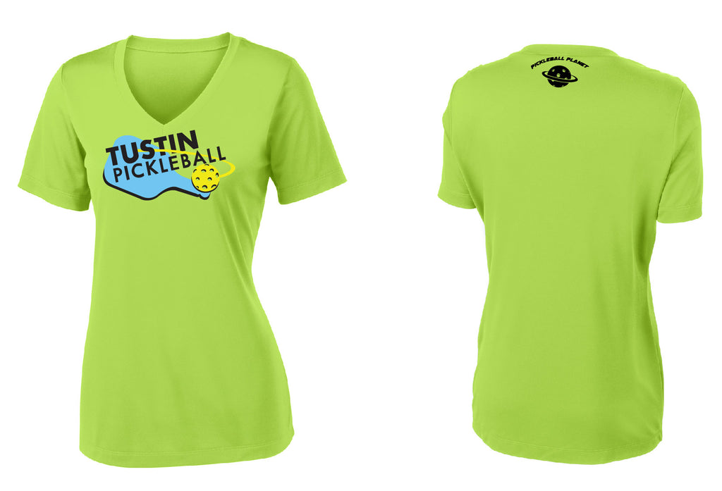 Women's Short Sleeve Performance 'Tustin PBC' Shirt- Lime