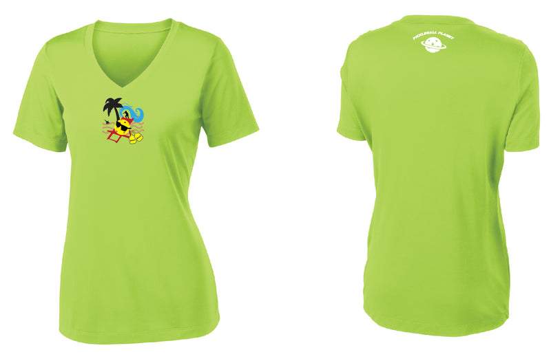 Women's Short Sleeve Vee-Neck Performance 'Cocoa Beach' Shirt