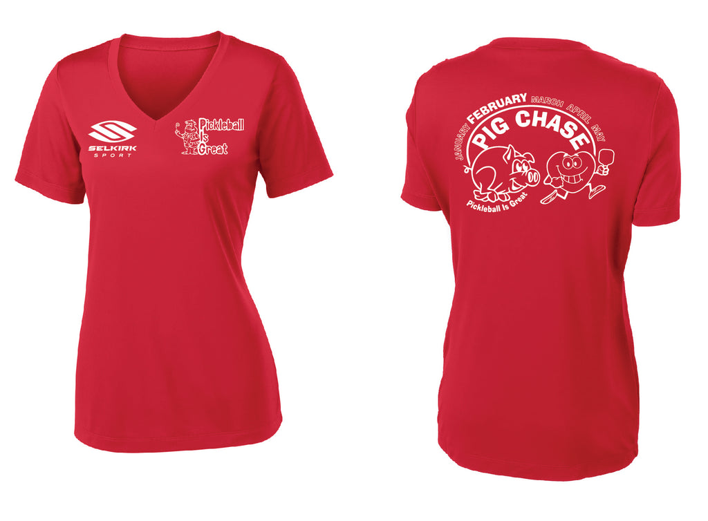 Women's Short Sleeve Performance 'February 2020 PIG' Shirt
