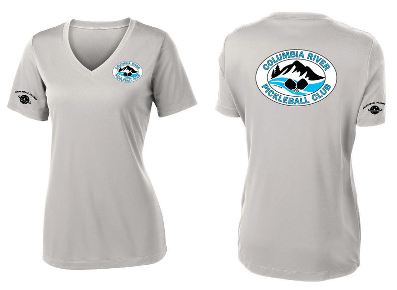 Ladies Short Sleeve Performance V-Neck Tee 'CRPC'