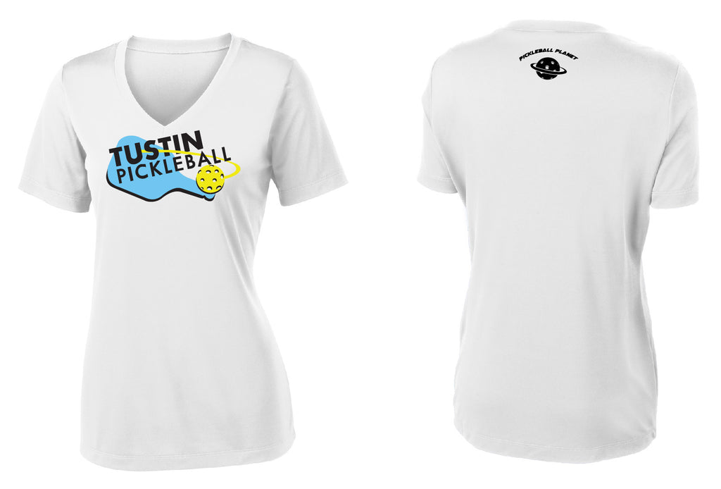 Women's Short Sleeve Performance 'Tustin PBC' Shirt- White