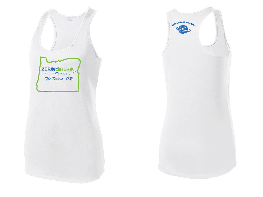 Women's Racerback Tank Performance 'Zero 2 Hero The Dalles' Shirt