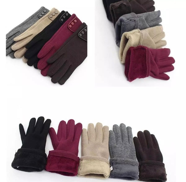 Touchscreen Gloves w/ Fleece Lining (Women) Style 2