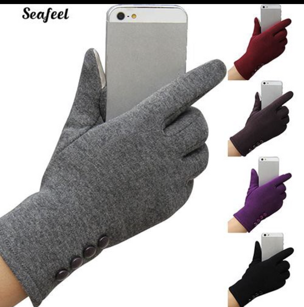 Touchscreen Gloves w/ Fleece Lining (Women) Style 1