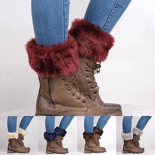 Furry Boot Cuffs (Women)