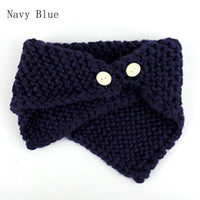Knitted Scarf w/ Button (Can Fit Women & Kids)