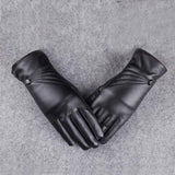 Leather Gloves w/ Fleece Lining (Women)