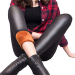 Leather Thermal Leggings (Women) w/ faux fleece Lining