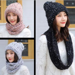 Matchy Beanie + Infinity Scarf (Thick, Soft Knit, Unisex)
