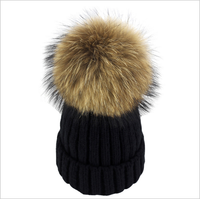 Beanie w/ Detachable Fluffy Fur Pom (unisex)