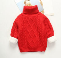 Kids Knitted Winter Sweater (Thick w/ Fleece Lining)