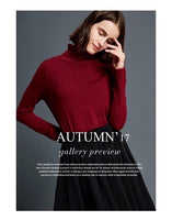 Knitted Longsleeves Turtleneck Women (soft fits XS - Med Frame)