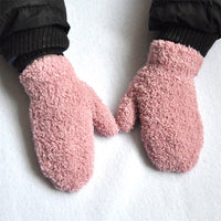 Plush Fur Soft Elastic Mittens (fits 1-4 yr olds)