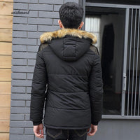 Bubble Coat w/ Detachable Fur (Men) w/ Fleece Lining