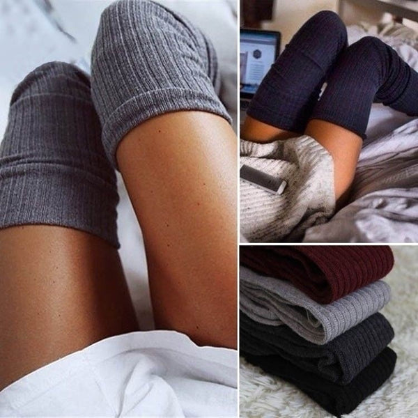 Thigh- High Warm Knit Socks