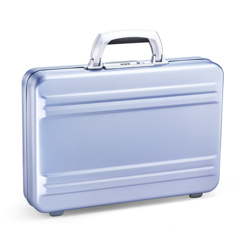 Slimline Aluminum | Compact Attaché POLISHED BLUE