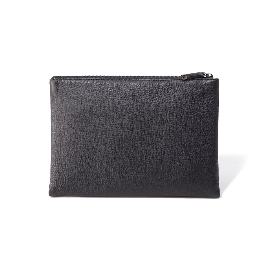 Accessories | Dual Zipped Leather Pouch