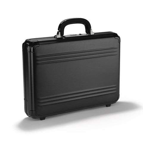 Pursuit Aluminum | Medium Attache Case BLACK