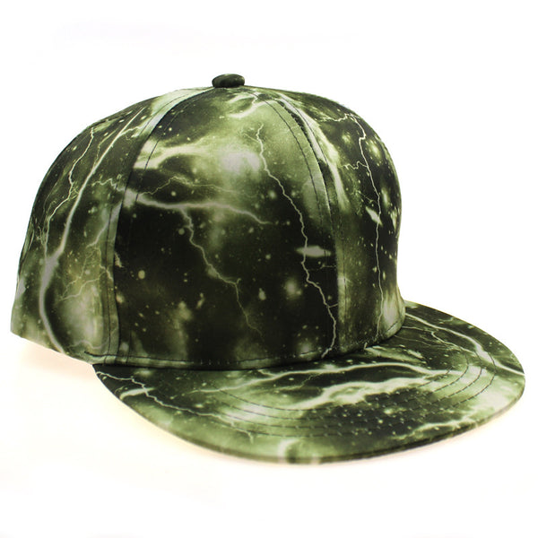 3D Polyester Cool Lightning Hip Hop Hat