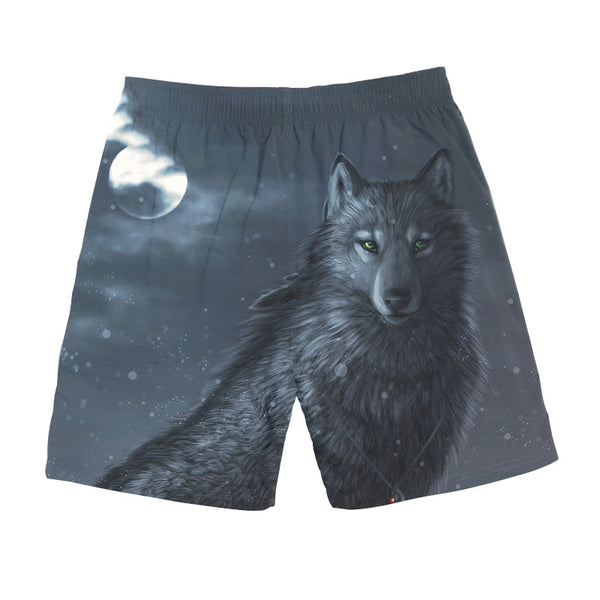 Men's Beach Pants Loose 3D Spoof Print Shorts Casual DW04