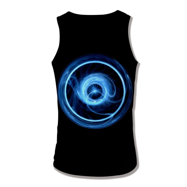 Men's 3D Digital Geometric Print Sleeveless Vest Tank Tops CX12