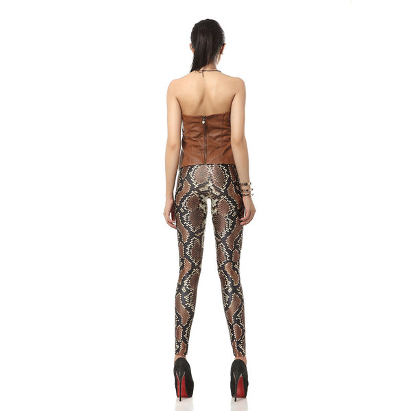 3D Printed Elastic Leggings Digital Leggings Snakeskin pattern